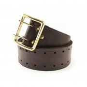 Ремень офицерский кожаный коричневый