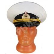 Фуражка офицерская парадная ВМФ белого цвета