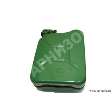 Канистра стальная 10 л зеленого цвета